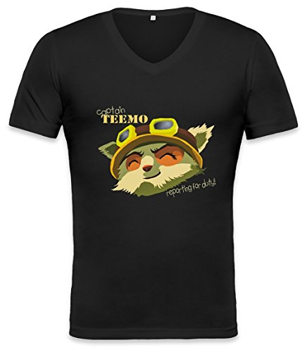 Captain Teemo Unisex V-neck T-shirt XX-Large (Camo Hoodie Dog Sweatshirt)