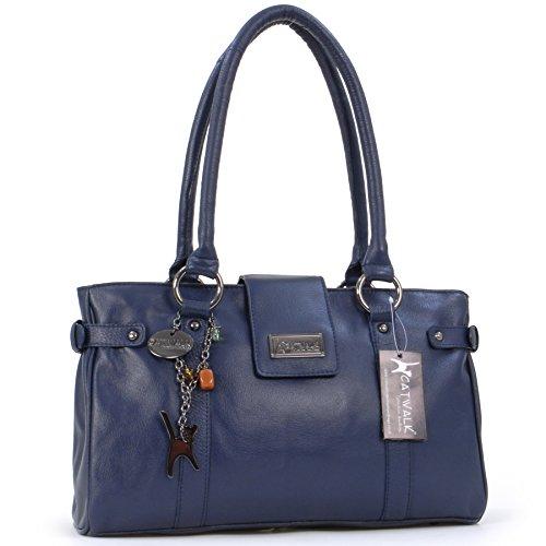 """Handtasche """"Martina"""" von Catwalk Collection - GRÖßE: B: 35 cm, H: 22 cm, T: 13 cm Marine Blau"""