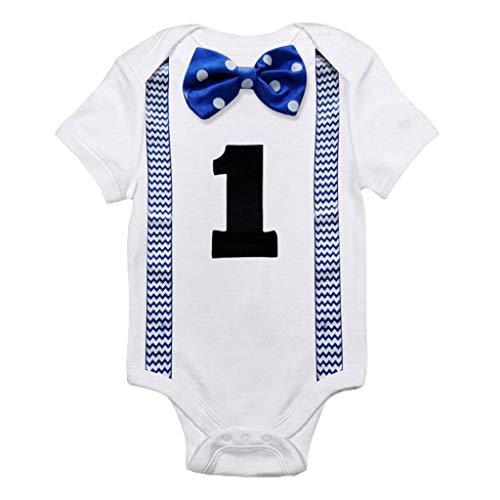 Stilvolle Kurzen Brief Drucken (Julhold Neugeborenes Baby Baby Boy Modus Hübsche Kurzarm Bowtie Brief Drucken Bodysuit Dünne Strampler Kleidung 0-12 Monate)