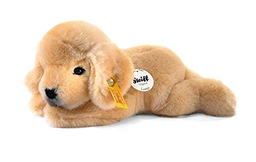 Steiff 280160 Lumpi Golden Retriever Welpe 22 liegend Hund, GOLDBLOND -