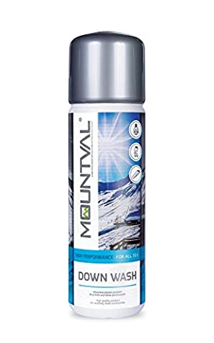 Mountval Down Wash, performance wash-in cleaner for down-filled outdoor hiking clothing and sleeping bags, refreshes and maintains loft