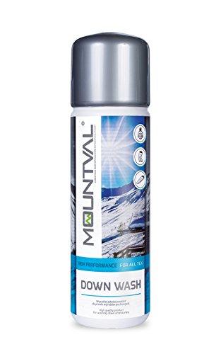 Mountval pulitore piuma, pulitore per lavaggio di abiti escursionismo in piuma e sacchi a pelo, rinfresca e preserva l'aspetto