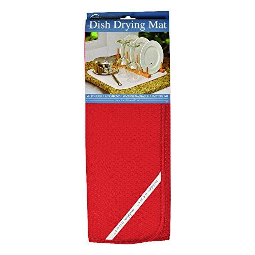 Envision Home Fox Run M294512 - Escurreplatos Dish Dry Mat Rojo