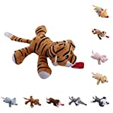 Tiger: Jiamins Baby Dummy Pacifier Clip Silicone Feeding Plush Animal Toy Soother Nipples Holder Fo