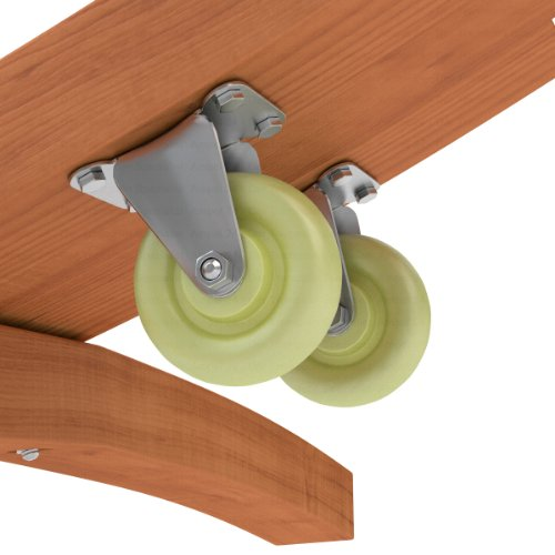 Transportrollen Set für Hängemattengestelle aus Holz | belastbar 120 kg | erleichtern das Verschieben des Hängemattenständers