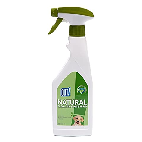 OUT! Natural Flea, Tick & Mite Spray Treatment - 500ml