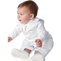 Idea Regalo - Vivaki - Abito da battesimo - Bebè maschietto Bianco bianco