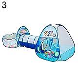 0Miaxudh Spielzelt, Faltendes Indoor Outdoor Kinder Kinder Ozean Ball Spielzelt Crawl Tunnel Spielhaus - 3#