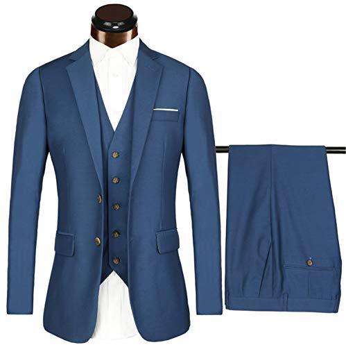 UNIQUE-F 3 Slim Herrenanzüge Hochzeit Abendkleid Prom Party Anzug Blazer Jacke Hosen Exquisit Maßgeschneiderte Komfort M - Party-prom-jacke