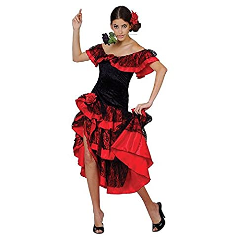 Senorita Costume Ideas - Deguisement Adulte de Danceuse Espagnole de Flamenco