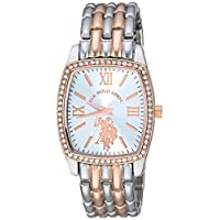 U.S. Polo Assn. USC40235 Women's Quartz Watch, Analog Display and Stainless Steel Strap