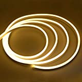 GBLY Flex LED Strip Warmweiß LED Streifen Neon Stripe 220V 12w/m inklu. Eurostecker SMD 2835 super hell (1m)