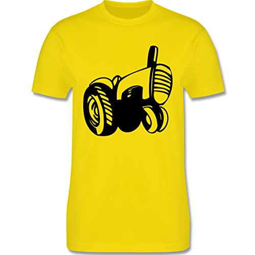 Andere Fahrzeuge - Traktor - Herren Premium T-Shirt Lemon Gelb