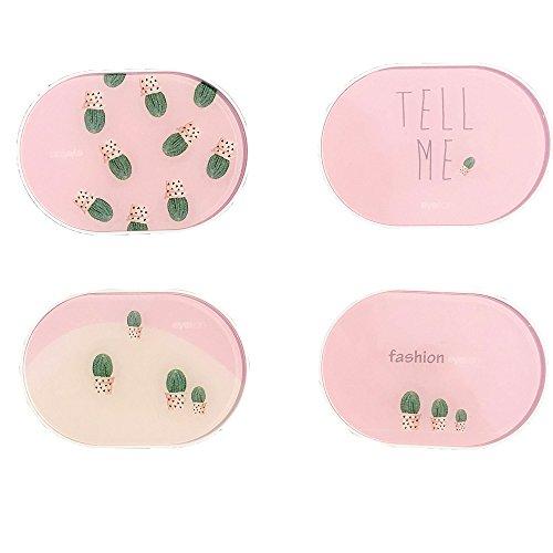 Travel Kontaktlinsenbehälter Box Pocket Größe oval Container Halter (Kontaktlinsenbehälter Bulk)