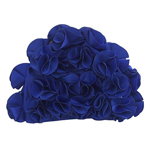 Tininna moda comoda elastica petali tridimensionali cuffia da nuoto cuffia da piscina con fiori