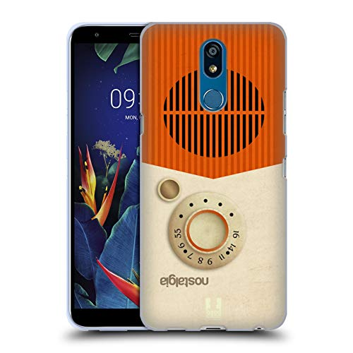 Head Case Designs Notalgie Vintage Radio Telefon Soft Gel Huelle kompatibel mit LG K40 / K12 Plus -