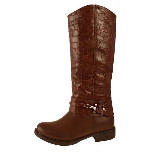 Femme Bottes Manfield/Dolcis Marron Noir Taupe Bordeaux brun clair Manfield Faux Crocodile Boot Tan