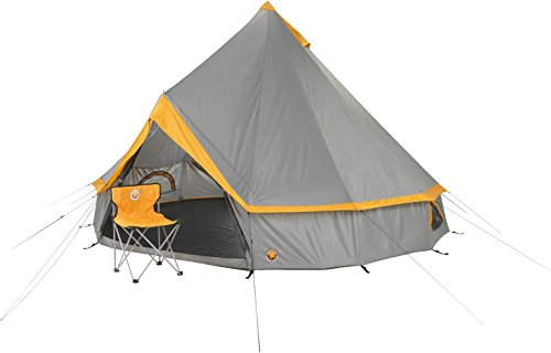 Grand Canyon Indiana Rundzelt (8-Personen-Zelt) grau/orange, 302022