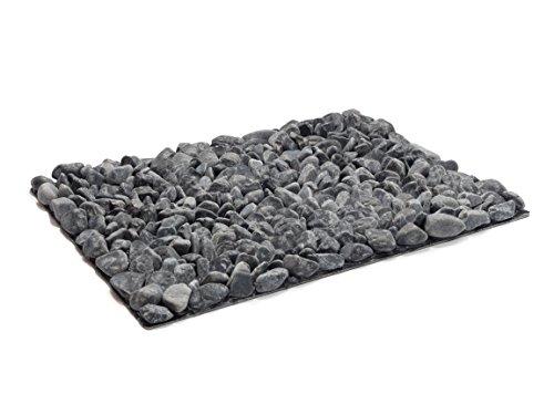 StoneBoard - Reflexzonen Steinplatte für Fussmassage nach Kneipp, 30 x 40 cm Fussmassagematte aus Naturstein, Schwarz, Marmor