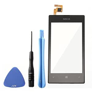 Sky_Trading Écran tactile avant de rechange pour Nokia Lumia 520 avec encadrement façade et outils