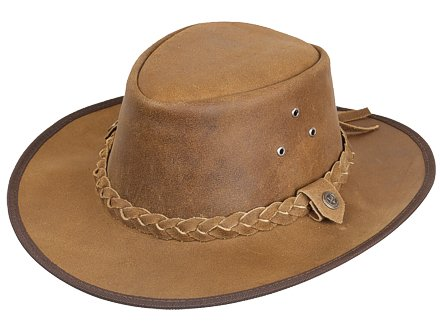 Scippis Hooley Leather Western Cowboy Hat Tan