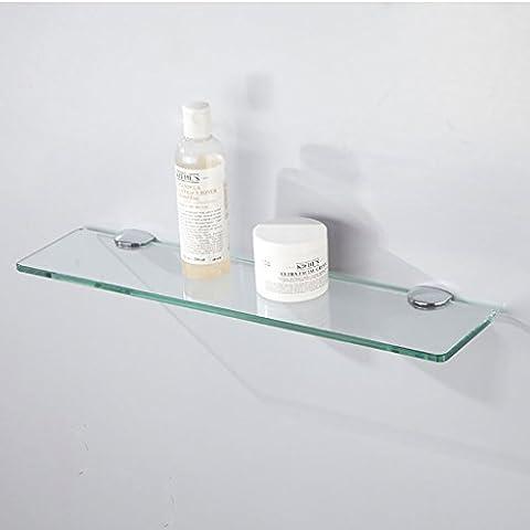 salle de bain étagère Étagères de salle de bain équipement de salle de bains palettes verre trempé plateaux à une couche panneaux de toilette salle de bain étagères ( taille : 80cm )