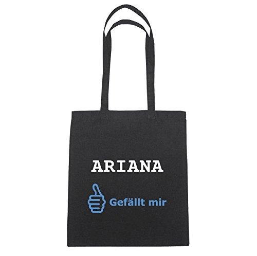 JOllify Ariana di cotone felpato B5160 schwarz: New York, London, Paris, Tokyo Schwarz : Gefällt mir