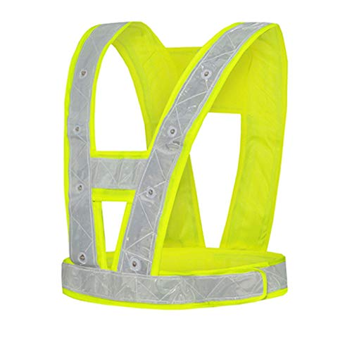 LYL Store-sicherheitswesten Reflektierender Sicherheits-Kleidungs-BAU-reflektierende Weste-schützende Kleidungs-Weste, die mit Licht hervorhebt (Color : Battery Model)