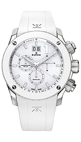 EDOX 10020 3B BN2 - Reloj de pulsera hombre, Caucho, color Blanco