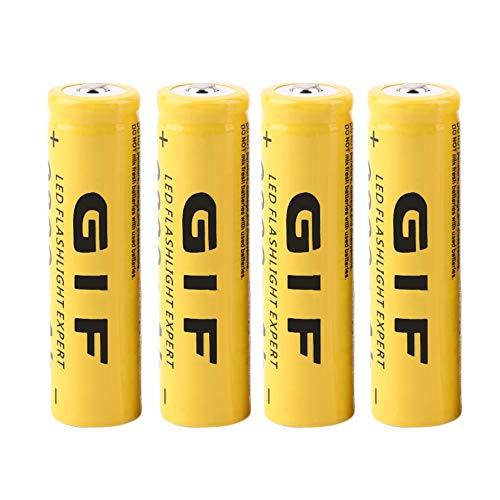 4PCS Eco-friendly 3.7V 18650 9800mAh Capacity Li-ion Rechargeable Battery For Flashlight Torch LED Flashlight Expert
