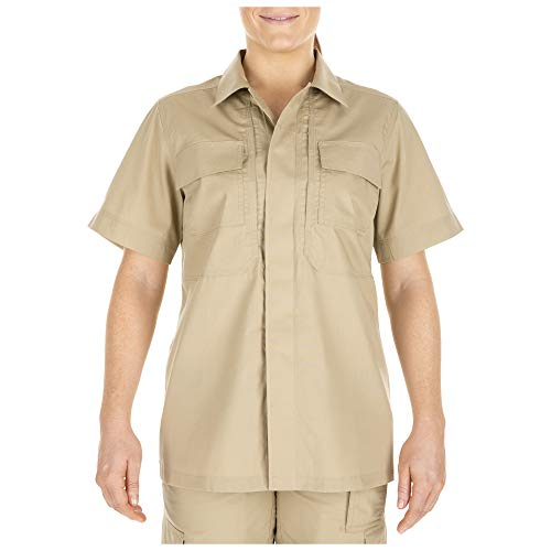 Ripstop-uniform (5.11 Tactical Damen Taclite TDU Uniform Work Kurzarm Button-Up Shirt Ripstop Style 61025, Damen, Khaki, Large)