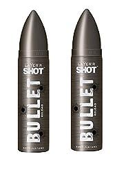 Layerr Shot, Bullet Reload Deodorant For Men ( Set of 2 )
