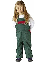0166 Planam Kinderlatzhose grün/rot