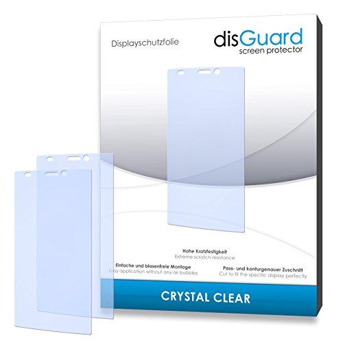 disGuard® Bildschirmschutzfolie [Crystal Clear] kompatibel mit Gionee Elife S5.5 [4 Stück] Kristallklar, Transparent, Unsichtbar, Extrem Kratzfest, Anti-Fingerabdruck - Panzerglas Folie, Schutzfolie
