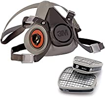 3M 6200 Medium Respirator with catridge 6001