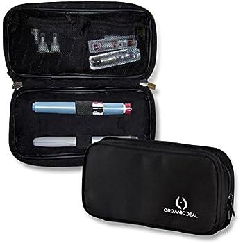 CUSTODIA REFRIGERANTE PER INSULINA con pannelli coibentati integrati / Mantiene freddo il farmaco per il diabete / Custodia Epipen isolata /Include 2 confezioni di ghiaccio (penne e fiale non incluse)