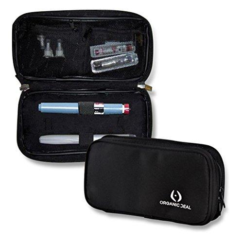 Bolsa Isotérmica Insulina Premium c/ paneles aislantes - Estuche de Viaje p/ Diabéticos - Mantiene insulina y accs a temperatura adecuada - Estuche p/ Epipen - Incluye 2 packs gel frío (accs no incl)