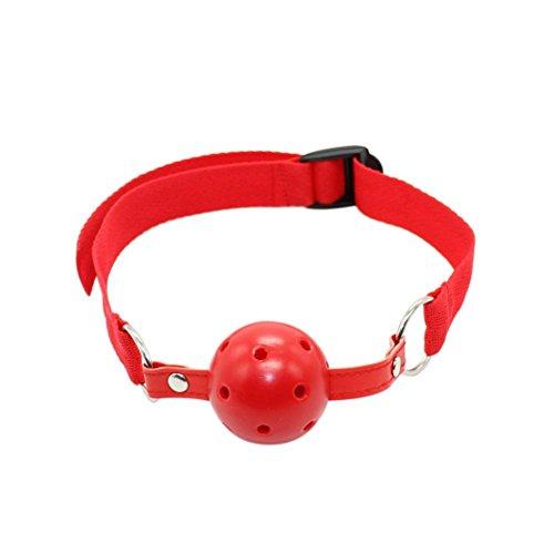 Greenpinecone® BDSM Bondage Erotik Rot Ballknebel Mundknebel knebel Gag, SM Sex-Spielzeug für Anfänger