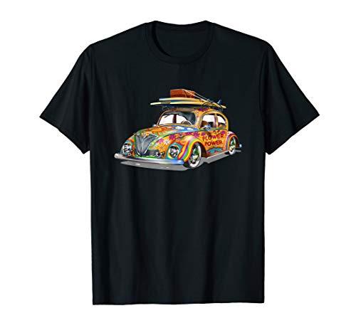 Retro Hippie-Oldtimer T-Shirt (Herren Sonnigen Hippie Kostüm)