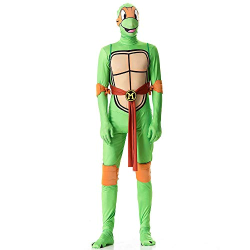 Ninja Orange Turtle Kostüm - ZSDFGH Ninja Turtles Kostim Erwachsene/Ninja Turtles Kostüm/Fasching Kostüm Kinder/Teenage Mutant Ninja Turtles,Orange-XL