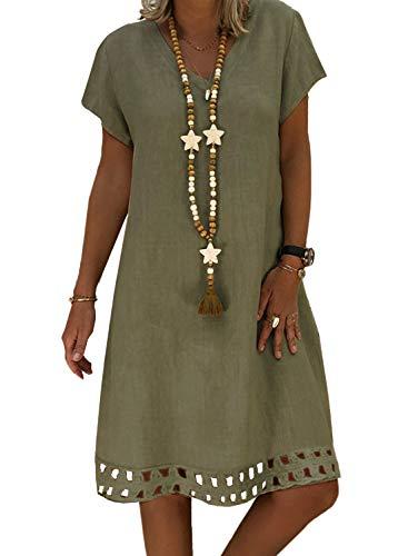 Elapsy Womens Short Sleeved V Ne...