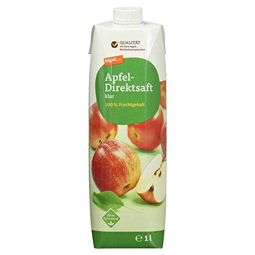 Tegut Apfel-Direktsaft klar 100% Fruchtgehalt (1 x 1.00 l)
