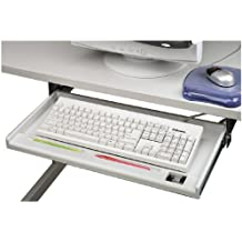 Fellowes 93800 - Bandeja adjustable para teclado, color gris