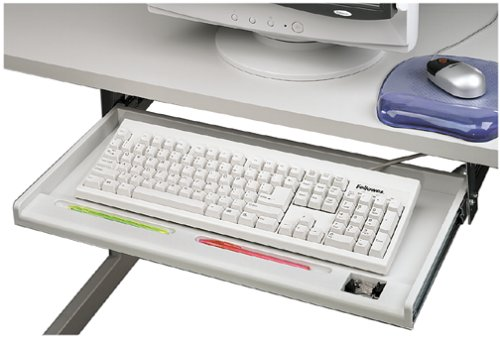 Fellowes 93800-70 Tastaturschublade Standard, hellgrau