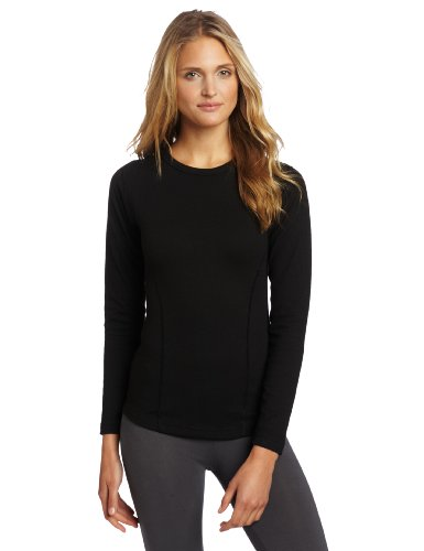 Duofold Women'S Heavy Weight Double Layer Thermal Shirt Black Medium