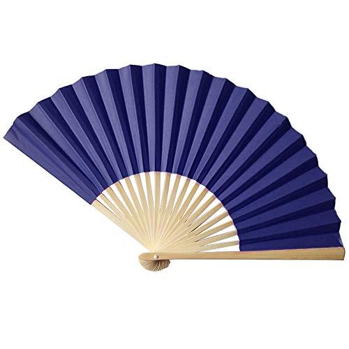 Stil Hand Fan Bambus Papier Faltfächer Party Hochzeit Dekor Einfache Monochrome Papierfächer (B) ()