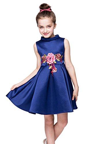 yming-filles-mariage-fleur-brodee-fille-tutu-tulle-bleu-robe-trapeze