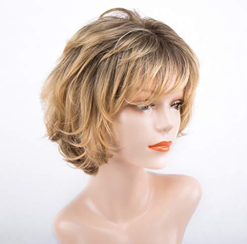 Europäische und amerikanische Perücken, Mode Frauen Kurze Haare Flauschige lockige Haare Chemiefaser natürliche realistische hitzebeständige Rose net Flauschige Persönlichkeit