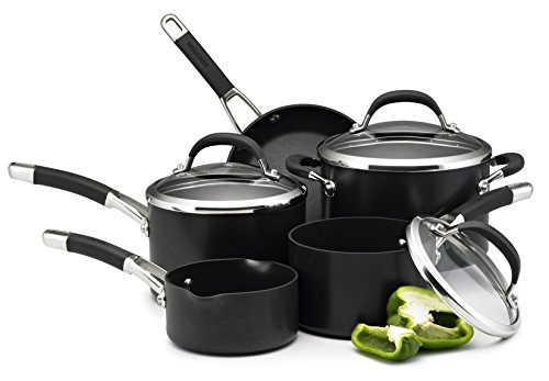 Circulon Premier Professional Hard Anodised Cookware Set, Black - 5 Piece