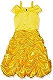 Vestido de fiesta de princesa Belle sin hombros en capas Vestido de fiesta de lujo para niñas (4~5T)